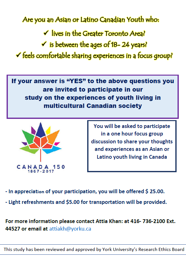 Study: Experiences of youth living in multicultural Canadian society